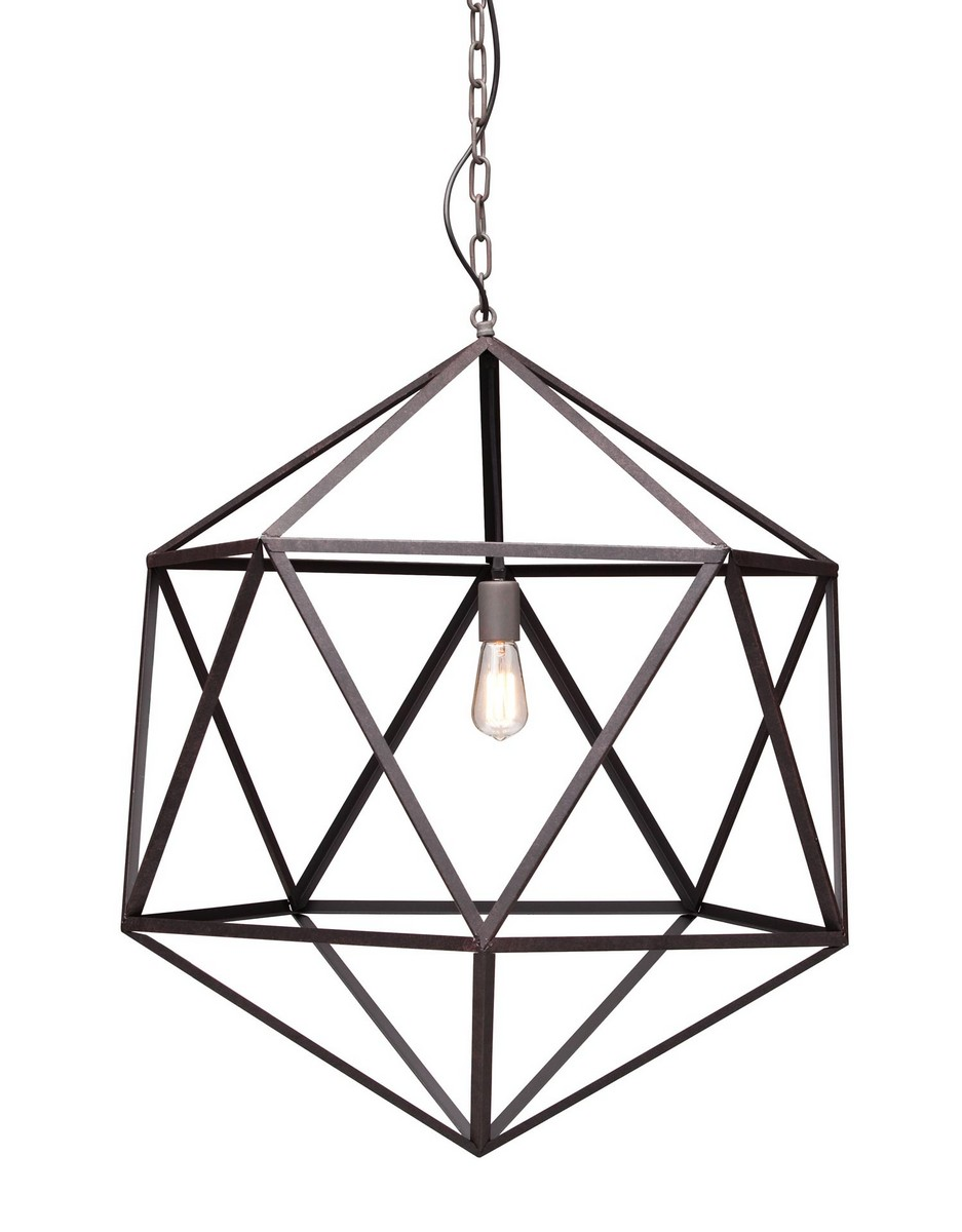 Zuo Modern Amethyst Ceiling Lamp Large - Rust