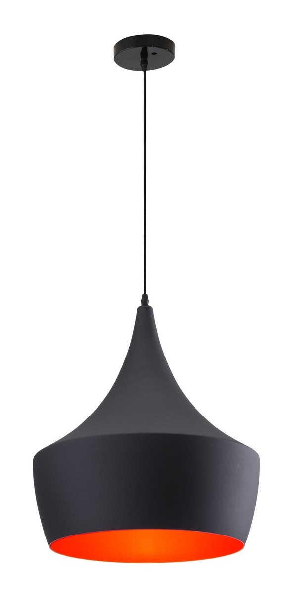Zuo Modern Copper Ceiling Lamp - Matte Black