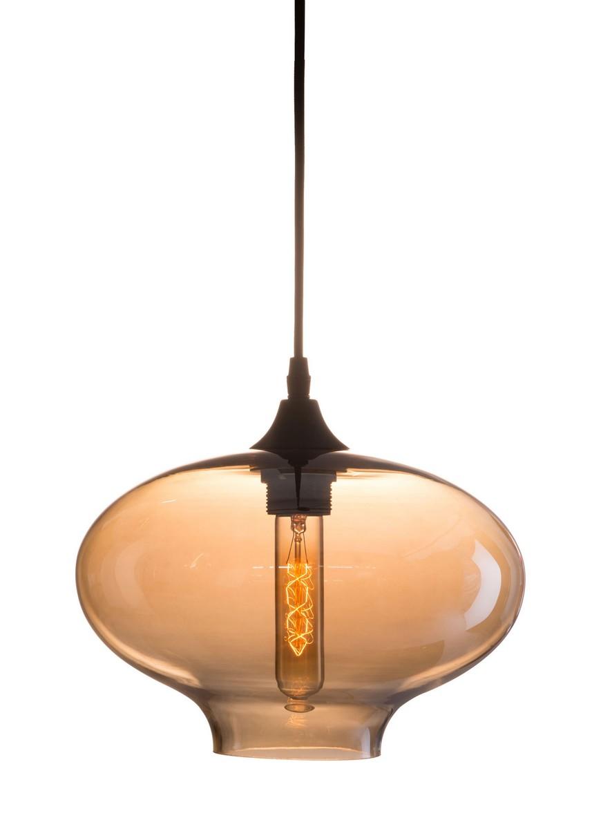 Zuo Modern Borax Ceiling Lamp - Black/Amber