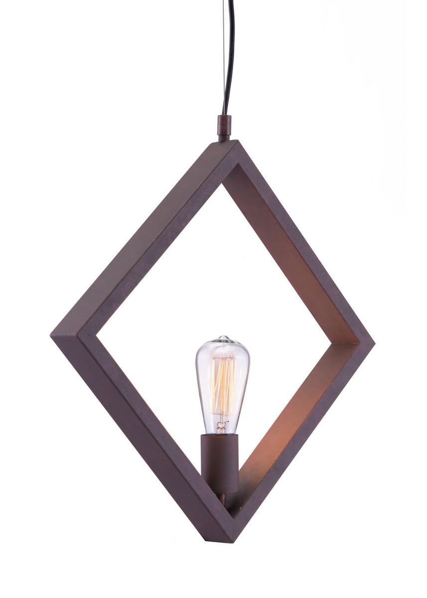 Zuo Modern Rotorura Ceiling Lamp - Rust