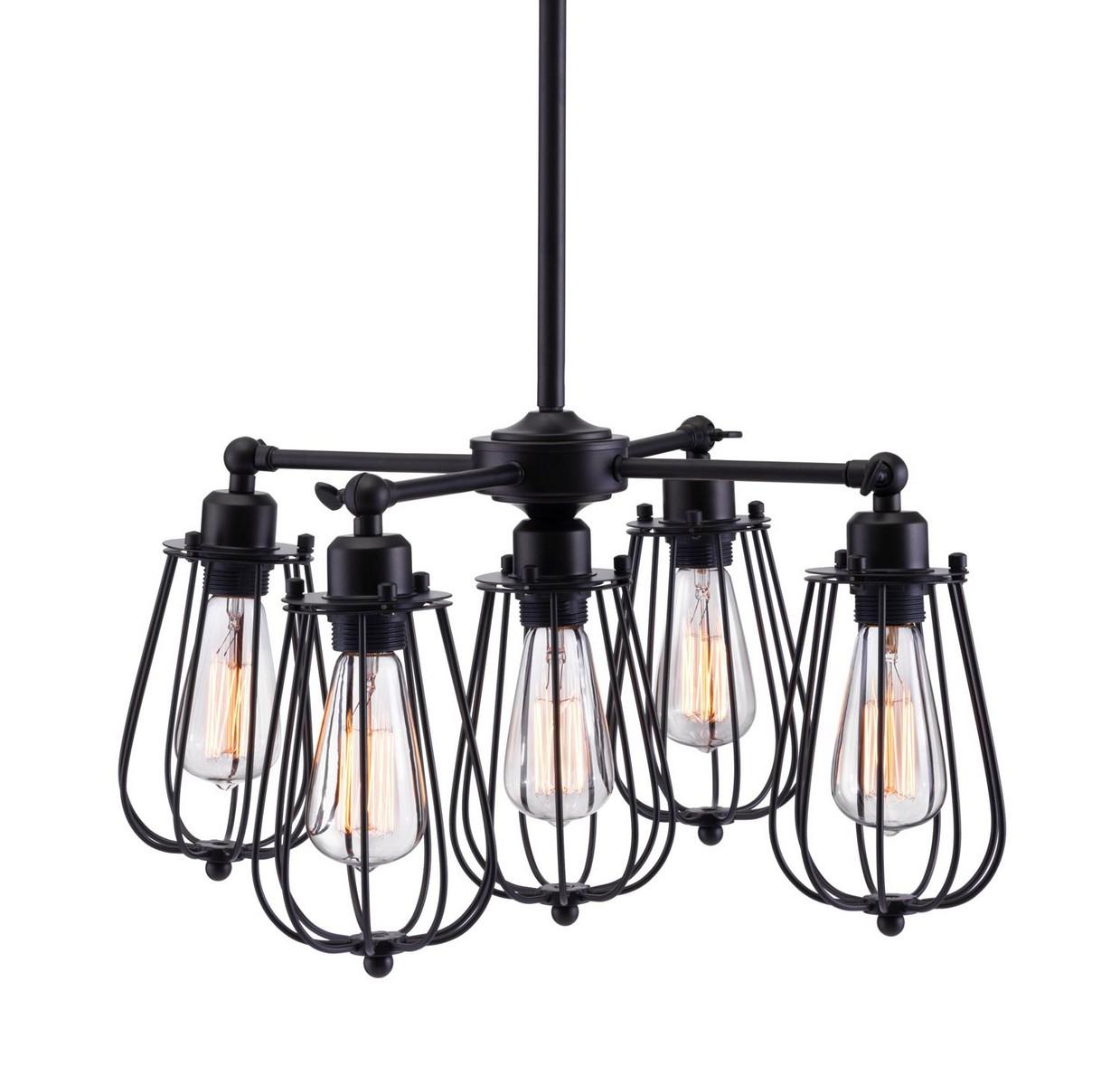 Zuo Modern Porirua Ceiling Lamp - Distressed Black