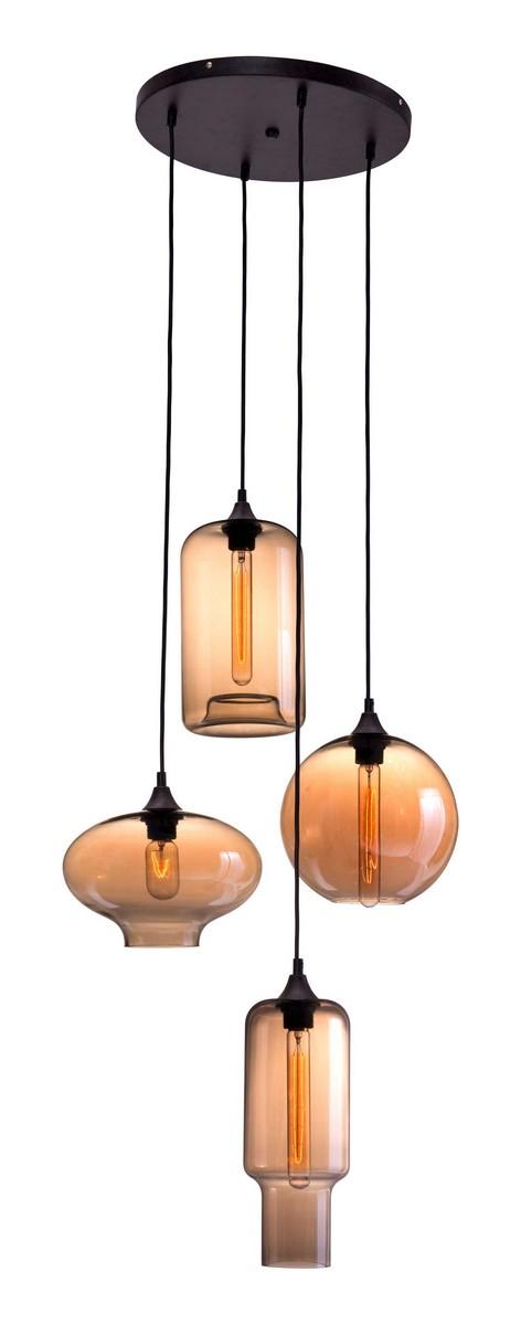 Zuo Modern Lambie Ceiling Lamp - Rust/Amber