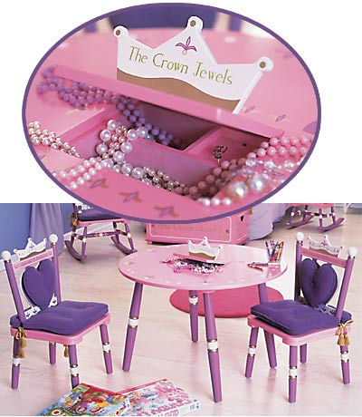 Cheap Levels of Discovery Princess Table & 2 Chair Set