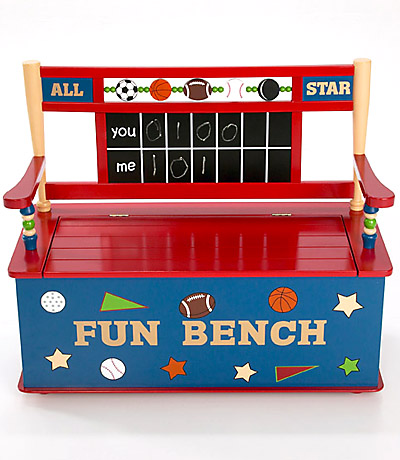 Cheap Levels of Discovery All Star Sports Toy Box Bench-Levels of Discovery