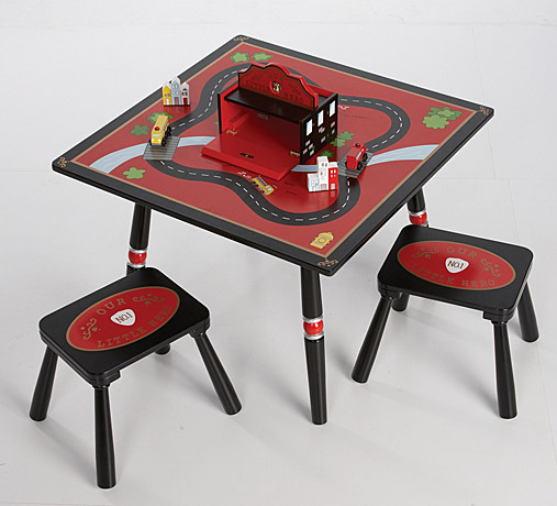 Firefighter Table & 2 Stool Set-Levels of Discovery