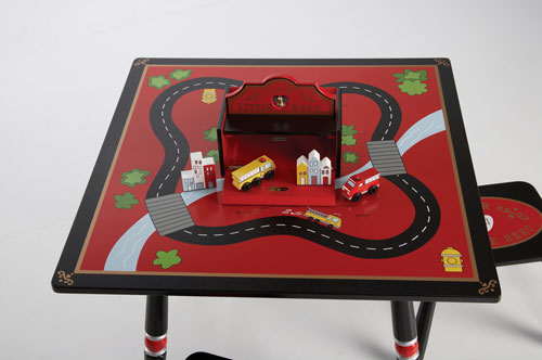 Levels of Discovery Firefighter Table & 2 Stool Set