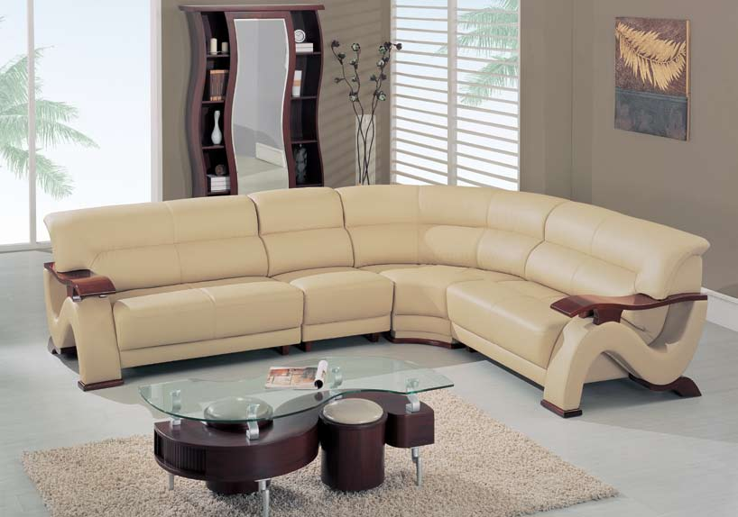 Global Furniture Usa 2033 4 Piece Sectional Cappuccino