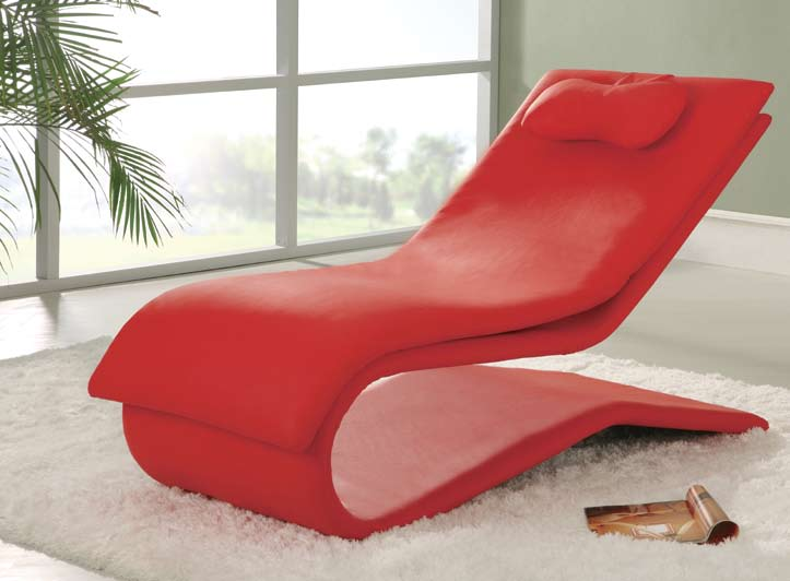 Global Furniture USA GF-A03-R Chaise - Red