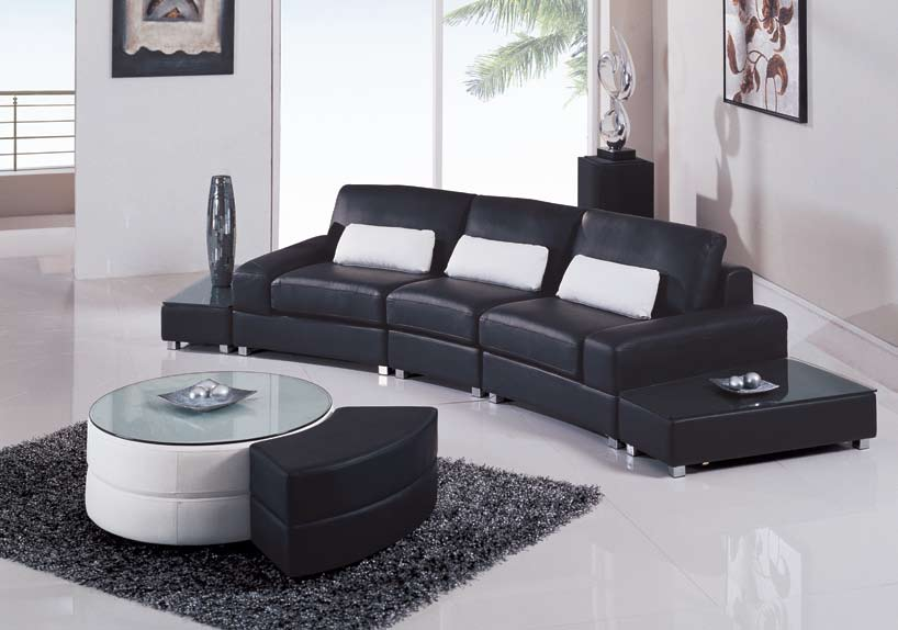 Attractive Global Furniture USA F282 5 Piece Sectional   Black