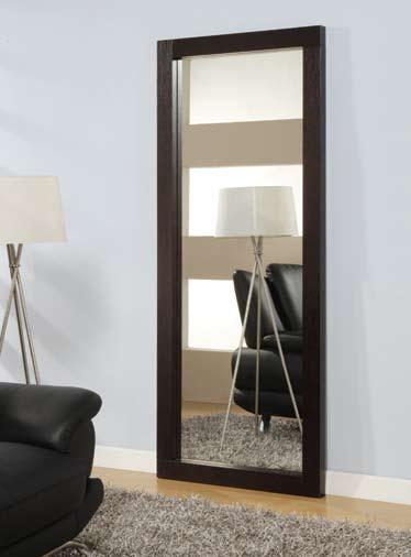 Global furniture usa g020 floor mirror wenge g020lm for Miroir wenge
