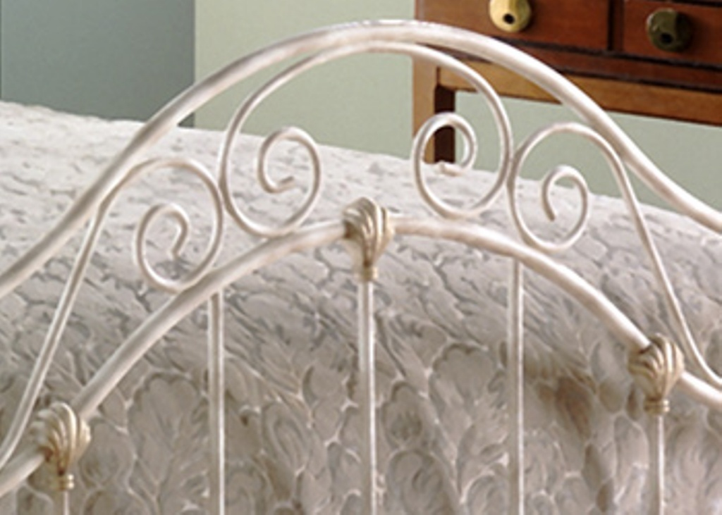 Fashion Bed Group Kensington Mirror in Golden Creme