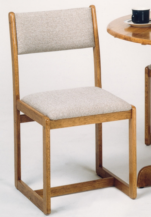Krause Chair with Upholstered Seat Oak