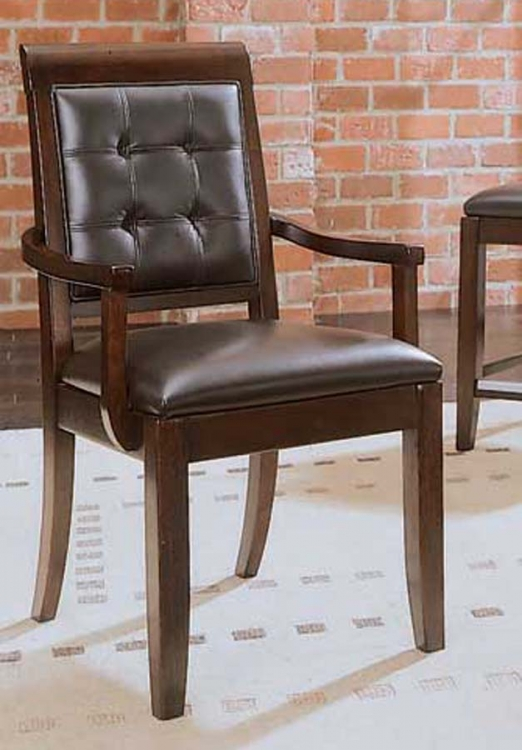 Tribecca Upholstered Leather Arm Chair