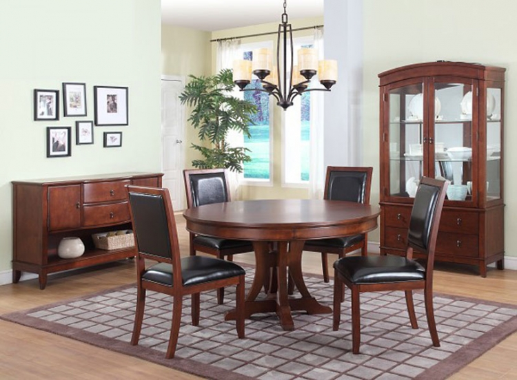 Avalon Round Pedestal Dining Collection - Homelegance