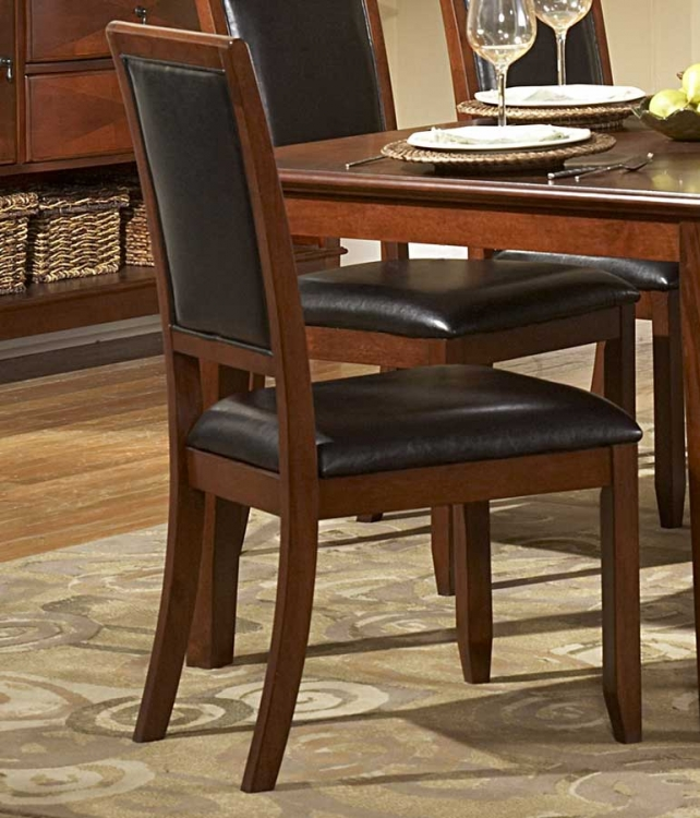 Avalon Side Chair Dark Brown Bicast Vinyl