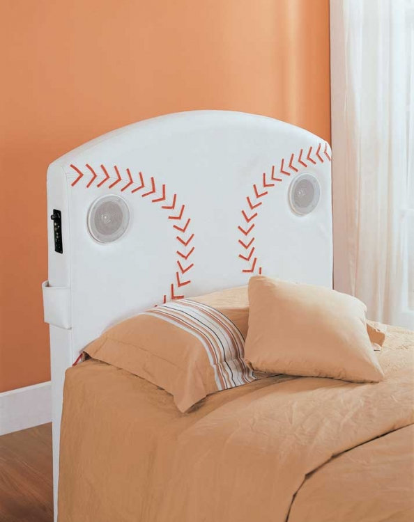 Fantacy Land Twin Baseball Speaker Headboard - Homelegance