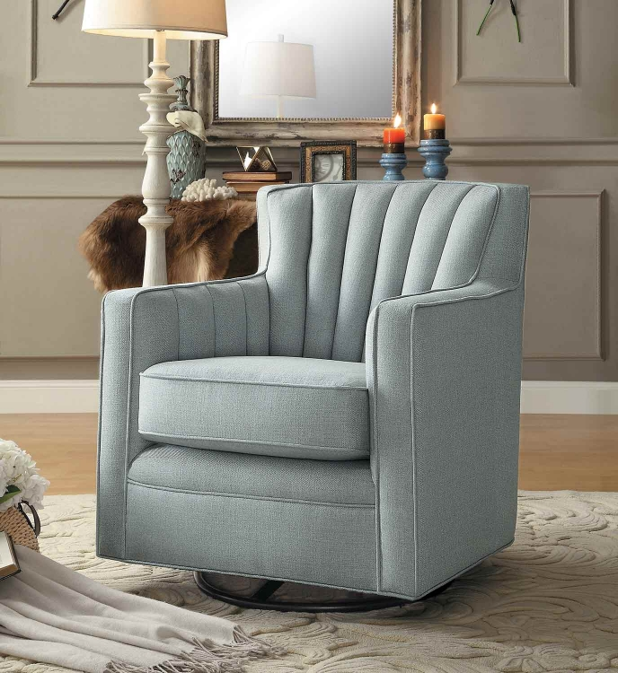 Flett Swivel Chair - Platinum