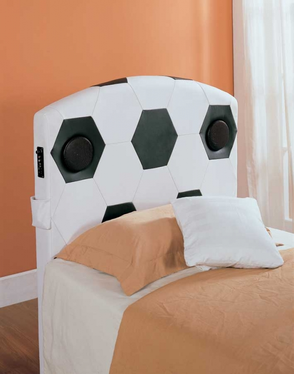 Fantacy Land Twin Soccer Speaker Headboard - Homelegance