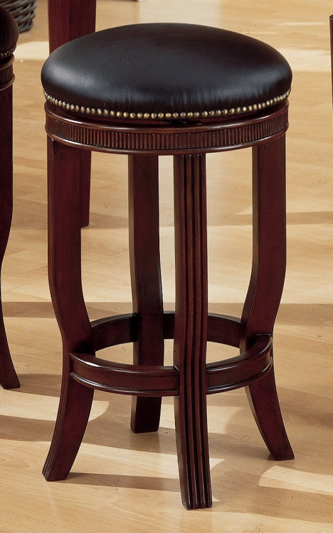 Builtmore 24in SH Leather Stool Swivel