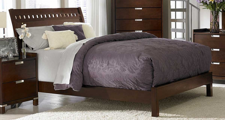 Bella Bed in Warm Brown Cherry - Homelegance