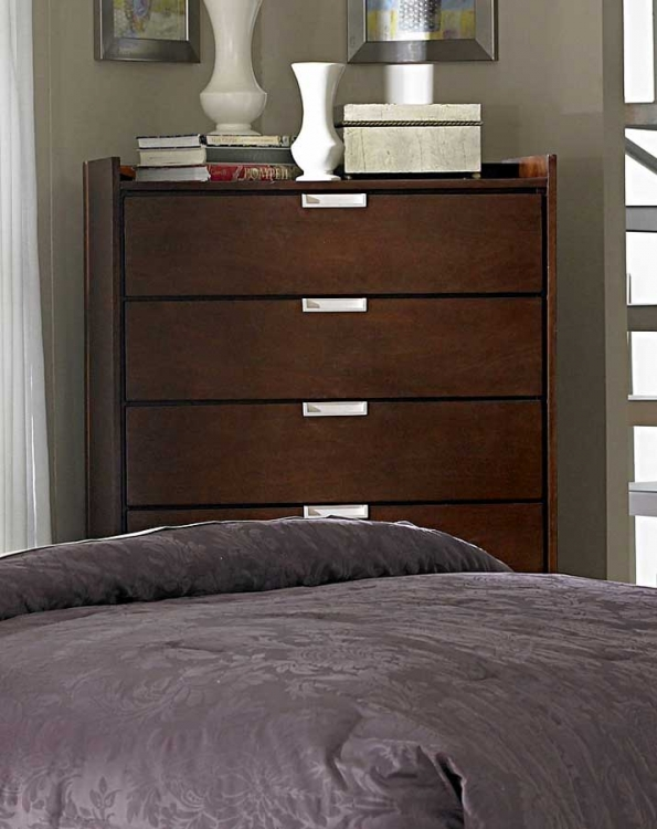 Bella Chest in Warm Brown Cherry - Homelegance