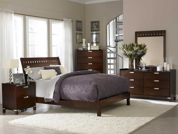 Bella Bedroom Collection in Warm Brown Cherry