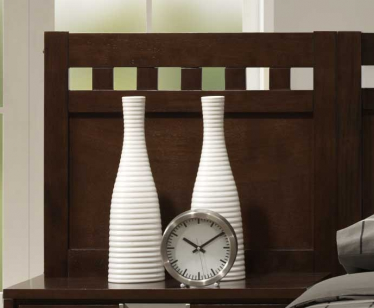 Bella Wall Bed Night Stand Wall Panel in Warm Brown Cherry