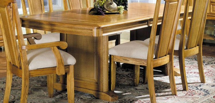 Monterey Dining Table with Pedestal Base with Leaf