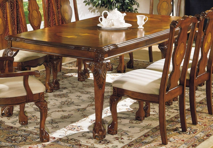 Mediterranean Dining Table with 18 inch Leaf
