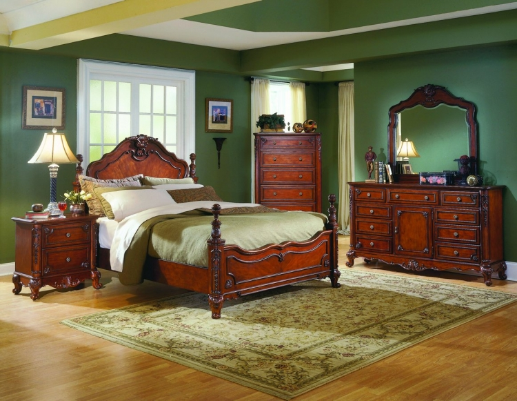 Madaleine Bedroom Collection Complete 6 Pcs-Homelegance