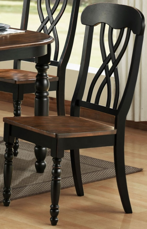 Ohana Black Side Chair - Homelegance