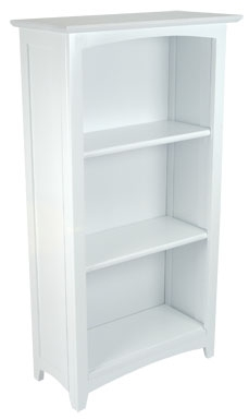 Avalon Tall Bookshelf - White