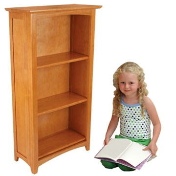 Avalon Tall Bookshelf - Honey