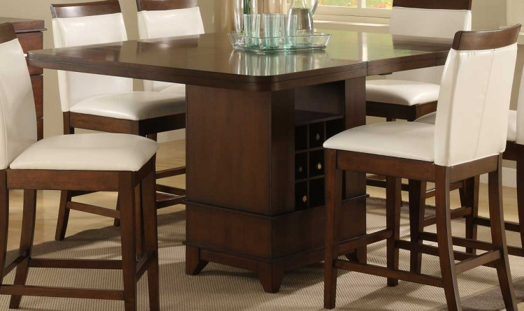 Elmhurst Counter Height Table with Wine Storage - Homelegance