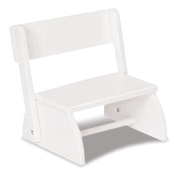 Large Flip Stool - White