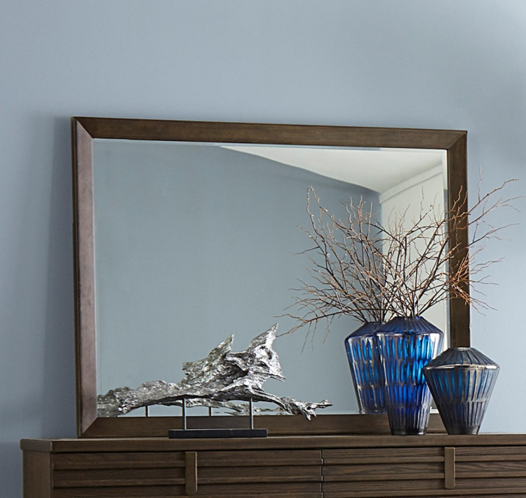 Ridgewood Mirror - Rustic Burnished Oak