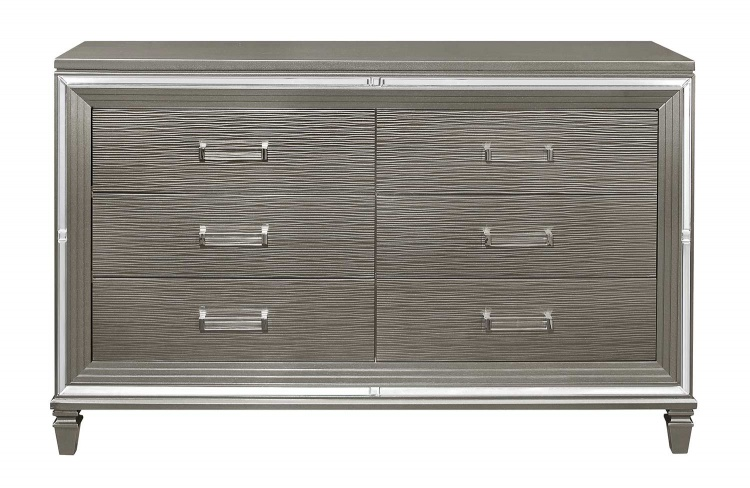 Tamsin Dresser with 2 Hidden Jewelry Boxes - Silver-Gray Metallic