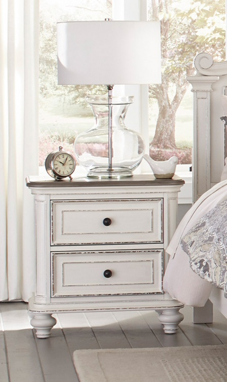 Baylesford Night Stand - Antique White Rub-Through Finish