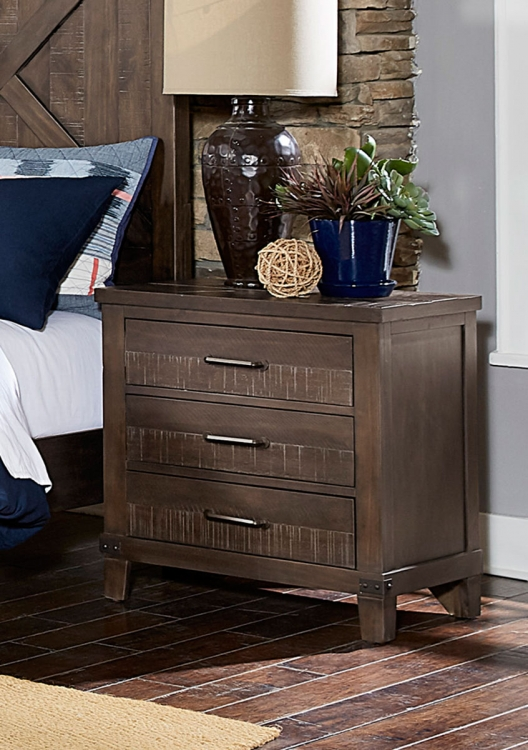 Hill Creek Night Stand - Rustic Brown