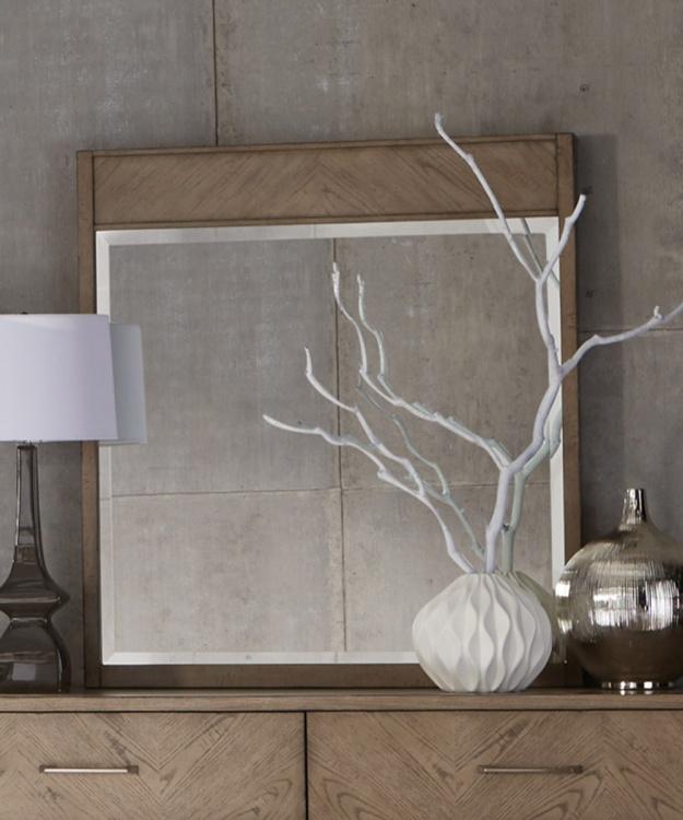 Liatris Mirror - Acacia Veneer with Gray Undertone