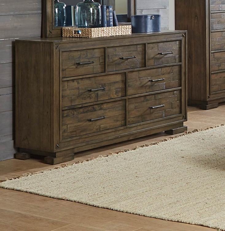 Griffon Dresser - Antique Brown