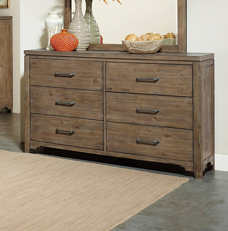 Lyer Dresser - Rustic Brown