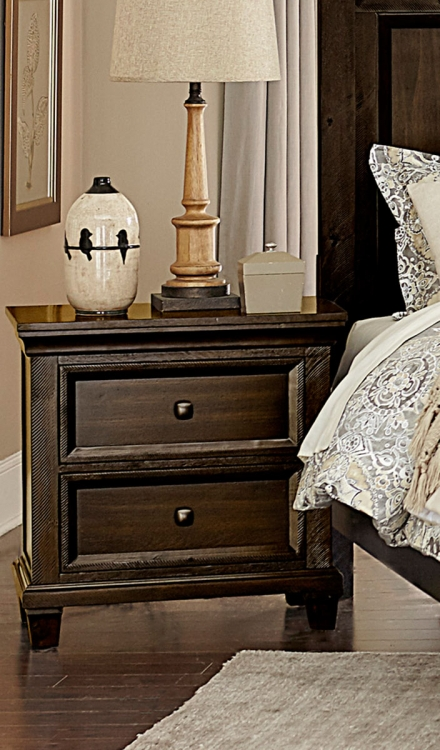 Birman Night Stand - Dark Espresso