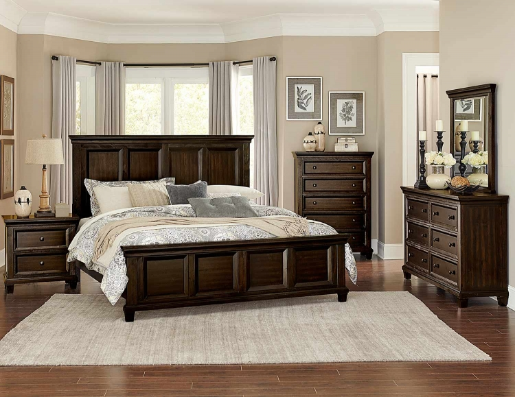 Birman Panel Bedroom Set - Dark Espresso