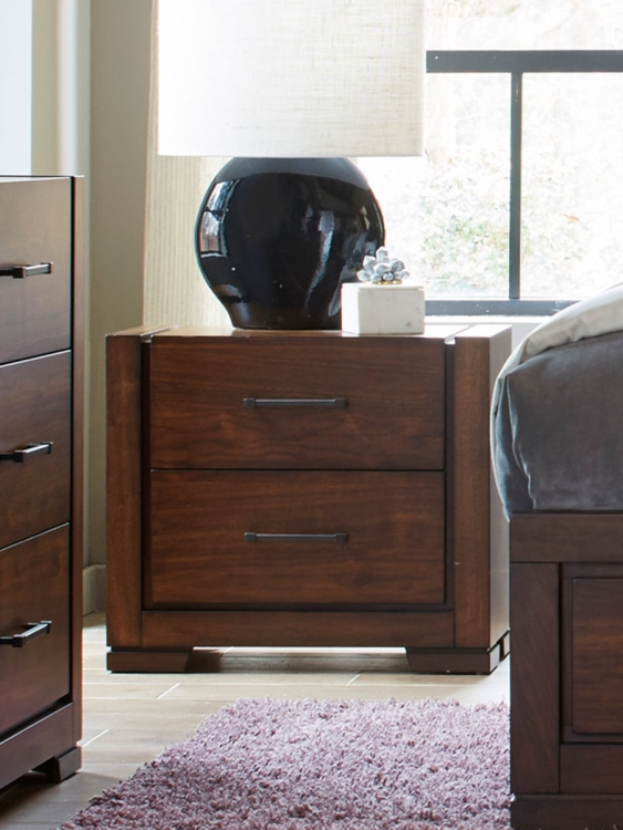 Ingrando Night Stand - Walnut