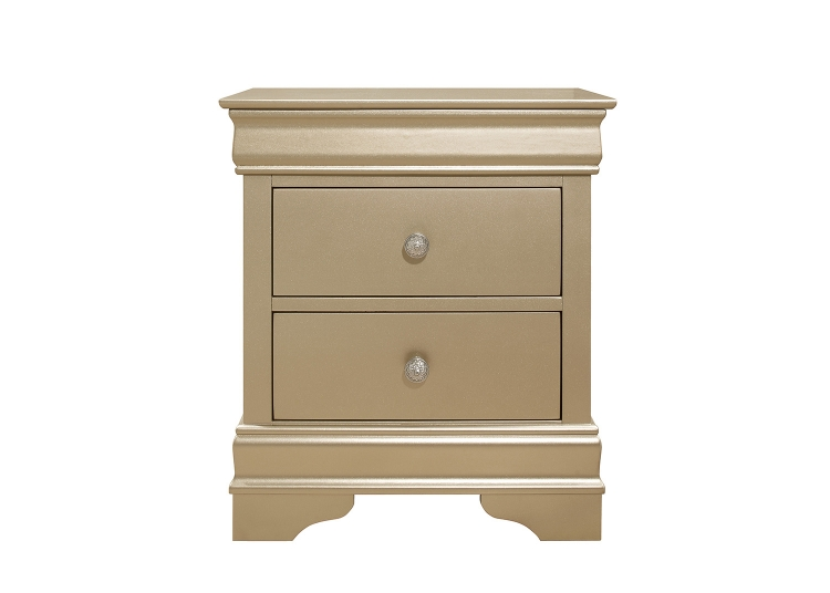 Abbeville Night Stand - Gold