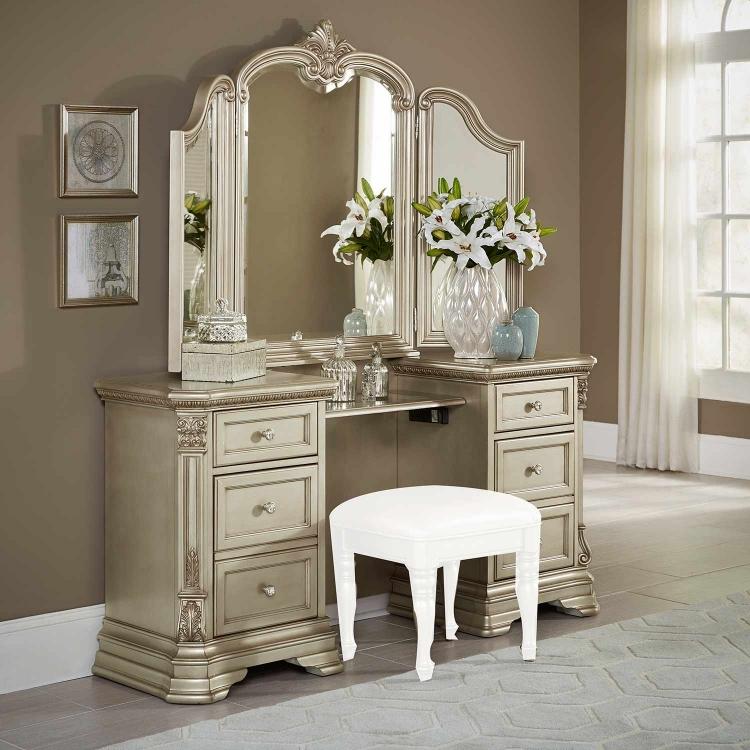 Antoinetta Vanity Dresser - Champagne
