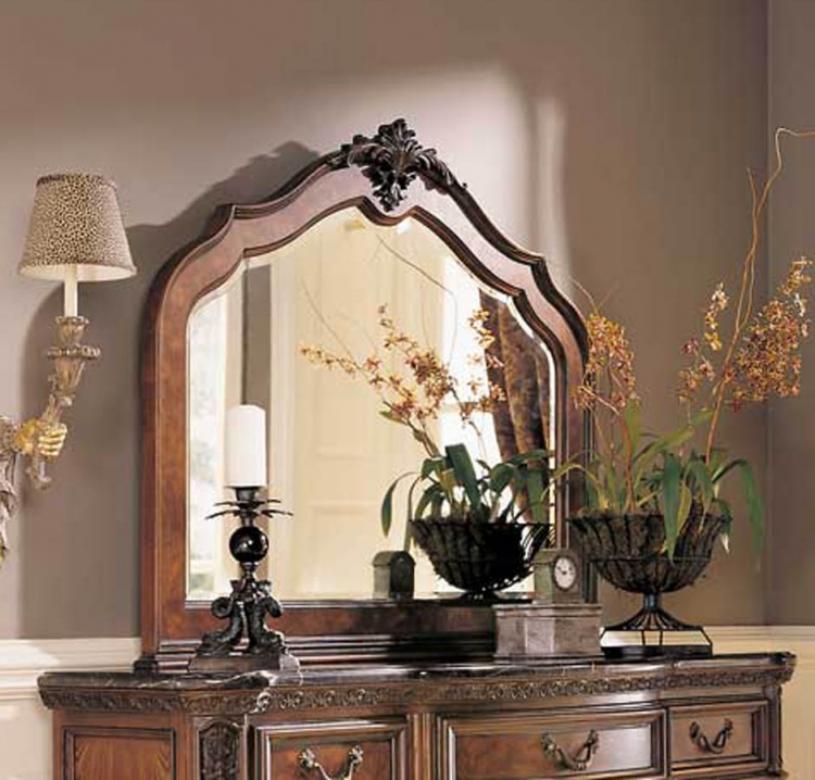 Grand Revival Dark Arched Landscape Mirror