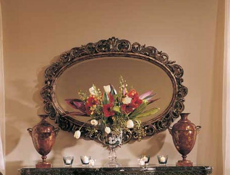 Grand Revival Dark Decorative Mirror