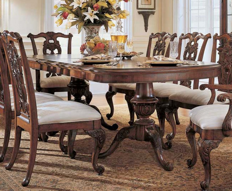 American Drew Wentworth Manor Pedestal Table